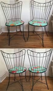 1960s Patio Furniture Vintage Woodard Wrought Iron Patio Set 2 Chairs U0026 Table Very