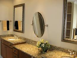 Decorative Ideas For Square And Round Bathroom Mirror With Shelves
