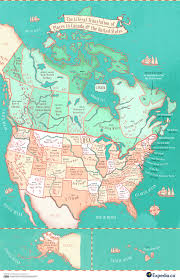United States Of America State Map by State Name Meanings Map This Map Shows The Literal Translation Of