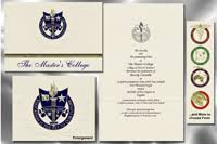 the master s college graduation announcements the master s