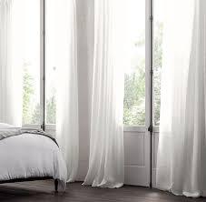Light Linen Curtains Belgian Sheer Linen Drapery White Restoration Hardware Rbm