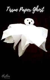 tissue paper ghost craft rhythms of play