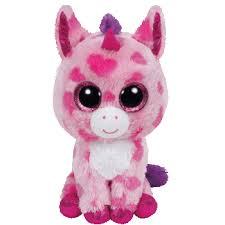ty beanie boo plush stuffed animal sugar pie pink unicorn