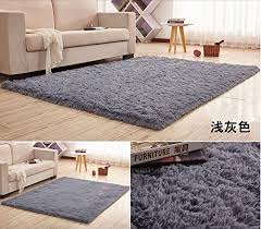 Modern Shag Rug 12 Sizes Soft Silk Wool Rug Indoor Modern Shag Area Rug