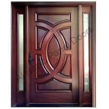 Exterior Wood Doors With Glass Panels by Diyar Solid Wood Door With Frame Hpd417 Solid Wood Doors Al