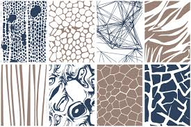color patterns organic patterns 2 color palettes by youandigraphics