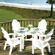 White Resin Patio Tables White Plastic Patio Table And Chairs Outdoor Plastic Furniture