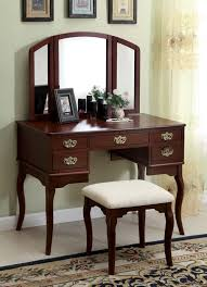 Vanity Table With Tri Fold Mirror 3 Pc Ashland Chippendale