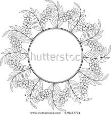tropical flowers plants round frame floral stock vector 726220654