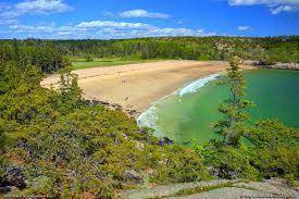 Map Of Maine Coast Sand Beach Acadia National Park Maine