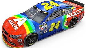 jeff gordon brings back rainbow paint scheme