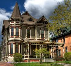 amazing brown dark gray gothic revival victorian house come with