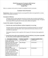 sample corrective action plan template 12 documents in pdf word