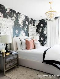 Gold And Black Bedroom by Pink And Black Bedroom With Pink Accent Wall Contemporary Bedroom