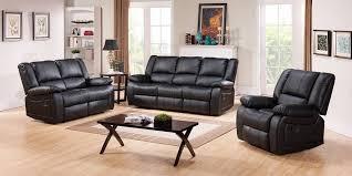 Black Recliner Sofa Set Leather Sofa Set Modern Contemporary Design 2018 2019