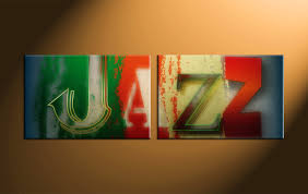 2 piece colorful jazz music canvas wall art