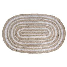 Braided Throw Rugs Shop Allen Roth Oval Indoor Braided Throw Rug At Lowes Com