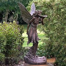 large stunning bronze effect standing garden ornaments