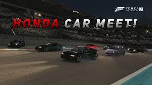 cars u0026 racing cars honda forza 7 1st honda car meet 500hp turbo b16 crx build drag