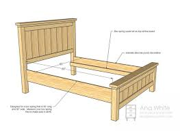 Farmhouse Bed Frame Plans Bed Frame For Guest Room From Anawhite Farmhouse Bed Frame How