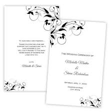 folded wedding program template 52 best wedding program templates diy images on