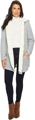 sweater with faux fur collar sweaters faux fur shipped free at zappos
