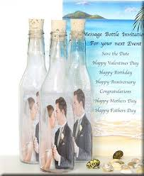 message in a bottle wedding message in a bottle gift ideas wedding invitations