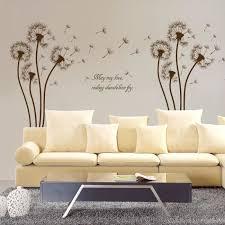 sticker mural chambre pissenlit plante stickers muraux chambre à coucher salon salle de