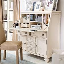 White Writing Desk With Hutch by Camden Drop Lid Secretary Desk Cream Secretary Desks At
