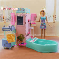 Dolls House Bathroom Furniture New Arrival Children Birthday Gift Play Doll House