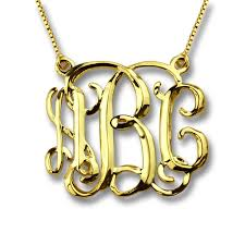 monogram jewelry cheap gold color monogram name necklace three dimensional personalized