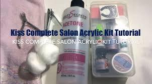 kiss complete salon acrylic kit tutorial youtube