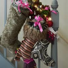 Banister Christmas Ideas Country Christmas Decorating Ideas Decorating Ideal Home