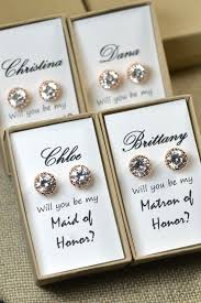 will you be my of honor ideas gold bridal set bridesmaids jewelry pendant