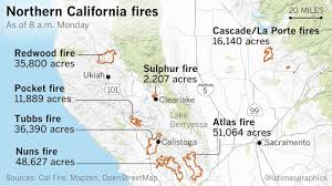 california map napa all of calistoga is now mandatory evacuation