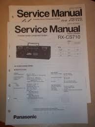 panasonic service manual rx cs710 radio boombox u2022 12 98 picclick