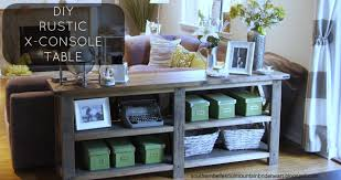 rustic x console table room ideas ana white diy rustic x console table diy projects 2