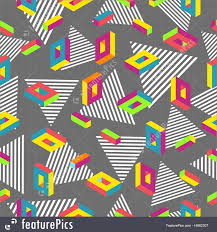 80s design abstract patterns retro 80s seamless pattern background stock