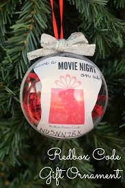 ornament gift redbox code gift ornament