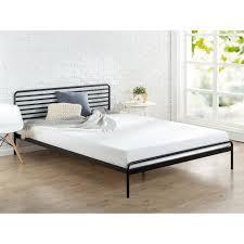 Metal Platform Bed Frames Zinus Sonnet Metal Black King Platform Bed Frame Hd Rppba 14k
