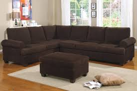 sectional sofas living spaces reversible l shape couch in deep chocolate corduroy finish