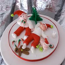 104 best christmas cake decoration images on pinterest holiday