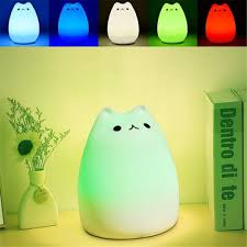 rechargeable light for home rechargeable color changeable silicone led sensitive tap control