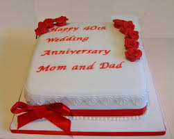 40th anniversary ideas 40th anniversary cakes ideas 26715 go back gallery for 40t