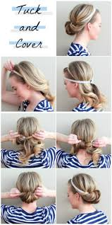 a quick and easy hairstyle i can fo myself i love this twist on the regular old headband routine tuck and