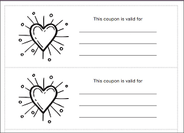 blank coupon template printable gift coupon templates for