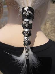 leather hair accessories hair accessories skull jewelry leather ties ponytail holder