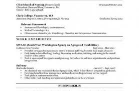 resume resume template for nursing assistant amazing cna job