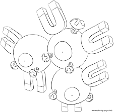 082 magneton pokemon coloring pages printable