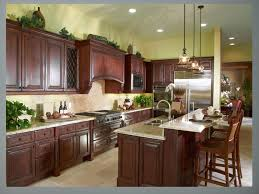 what color hardwood floors go with cherry cabinets kitchen colors with cherry cabinets and chandelier porcelain